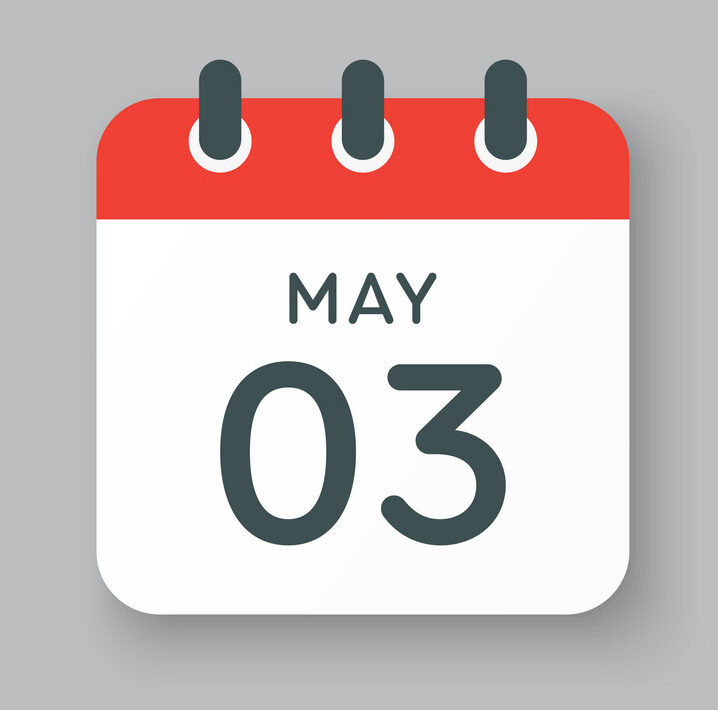 Calendar day 3 May, days of the year