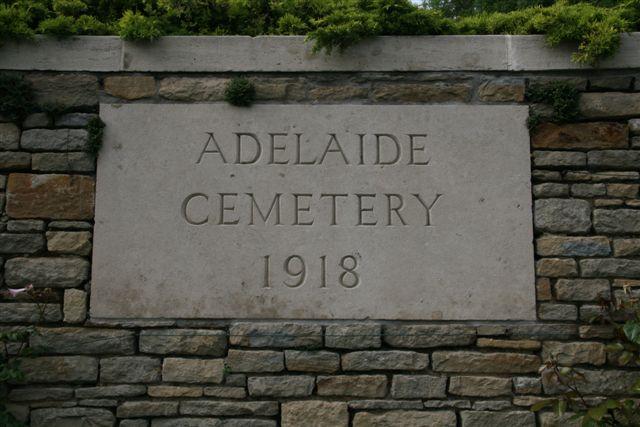 Cemetery name panel