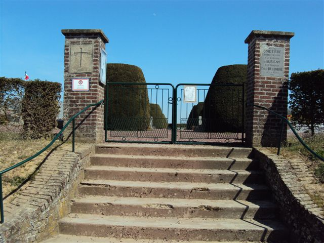 Entrance to Aubigny Communal Cemetery