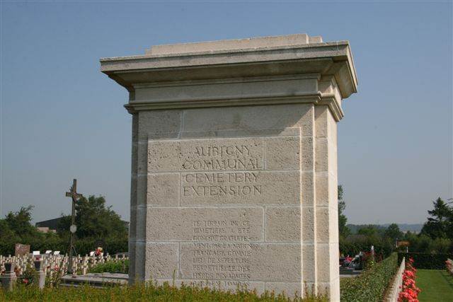 Name inscription on entrance column
