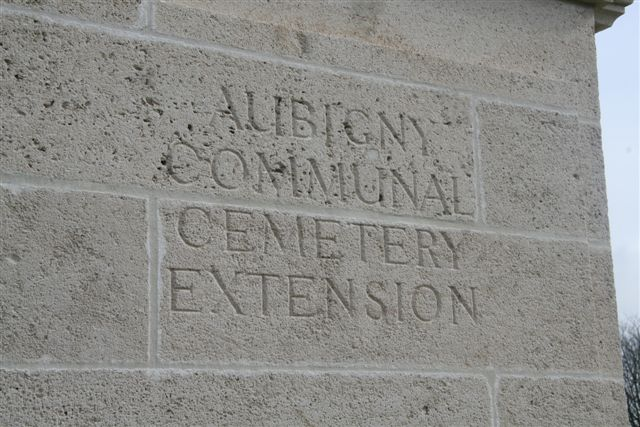 Closeup of name inscription