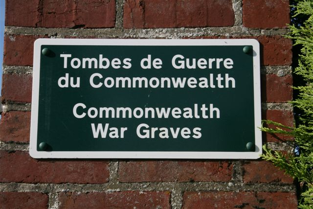 CWGC sign outside cemetery