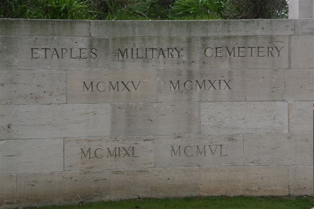 Name inscription on wall near entrance