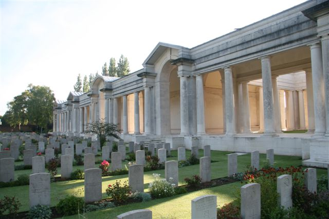 View 9 showing part of Arras Memorial in background