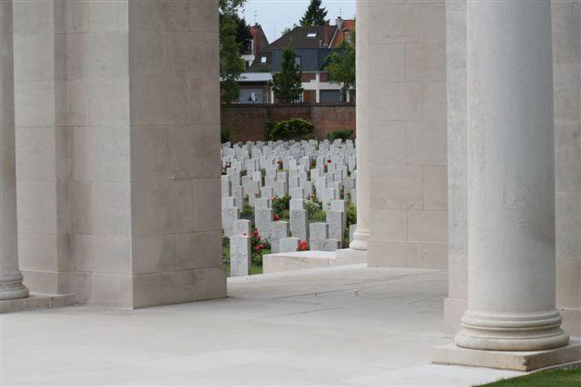 View 9B between columns of Arras Memorial