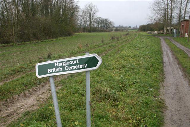 Signpost on pathway