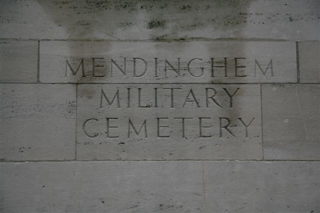 Name inscription over entrance archway