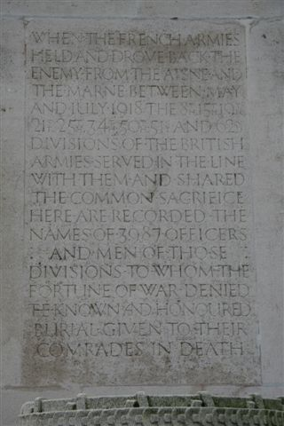 Closeup of dedication panel